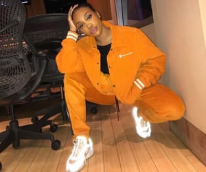 glow, orange, and outfit image