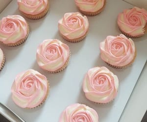 cupcake, pastry, and pink image