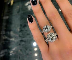 diamond, rings, and jewelry image