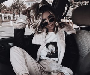 car, drink, and hairstyle image