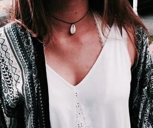necklace, shell necklace, and style image