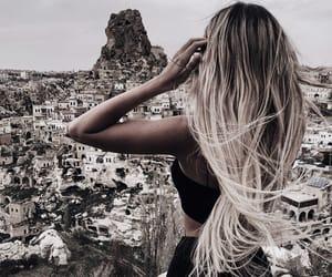 blonde hair, fashion, and long hair image
