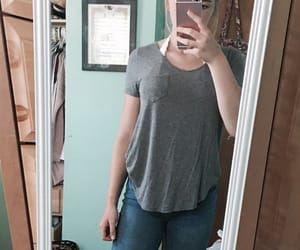 grey, outfit, and jeans image
