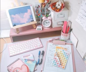 decor, home office, and cute image