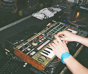 music, dj, and hands image