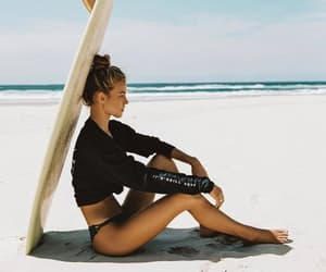 girl, goals, and beach image