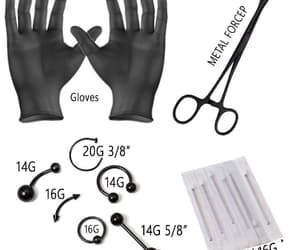tattoo, belly piercing, and nose piercing kit image