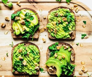 avocado, food, and toast image