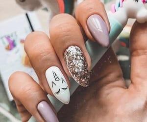 cool, manicure, and unicorn image