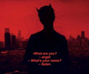 angel, red, and satan image