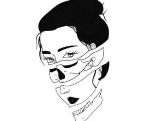 aesthetics, black and white, and Blanc image