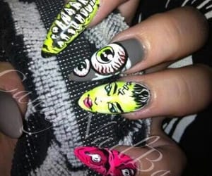 beauty, girl, and nail art image
