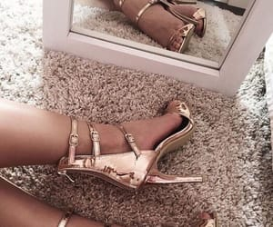 elegant, gold, and shoes image