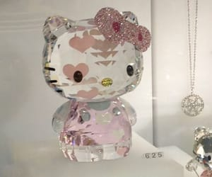 aesthetic, diamond, and hello kitty image