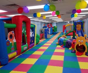 playground, rainbow, and toys image