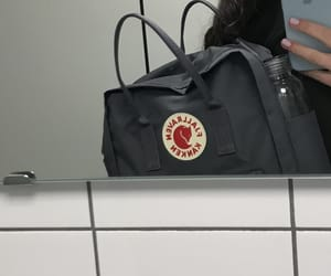 bag, fjallraven kanken, and grey image