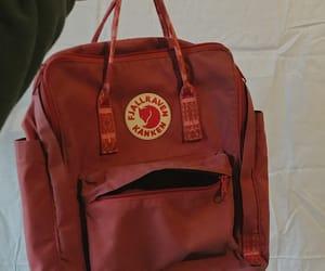bag, fjallraven kanken, and red image