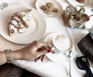 coffe, drinks, and food image