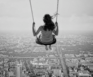 girl, swing, and beautiful image