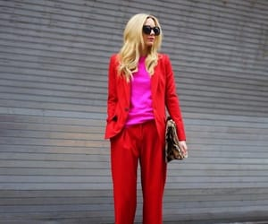 fashion, red, and street style image