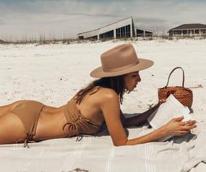 beach, beachwear, and bikini image