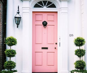 pink, door, and home image