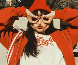 girl, red, and ulzzang image