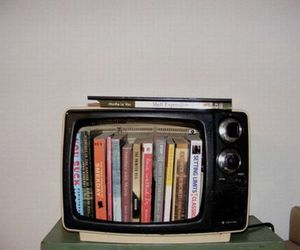 book, tv, and vintage image
