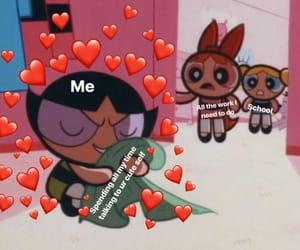 cartoon, feelings, and hearts image