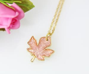 etsy, christmas gift, and gold leaf necklace image