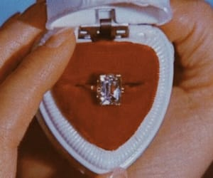 ring, vintage, and red image