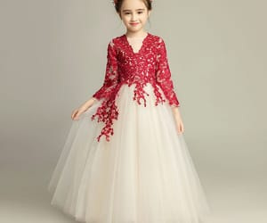 wedding, wedding party dress, and red lace image