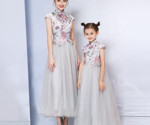 evening dress, girl, and little girl image