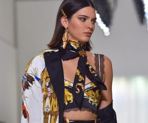 Kendall, models, and Versace image