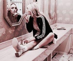bathroom, gold, and girl image