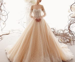 bridal, lace wedding dress, and sweetheart wedding dress image