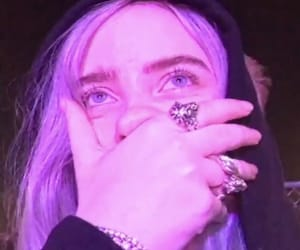 billie eilish and purple image