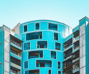architecture, blue, and cyan image