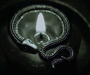 green, candle, and slytherin image