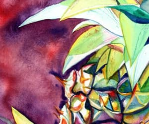 etsy, watercolour painting, and tropical fruit image