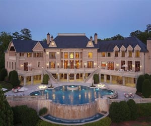 mansion, architecture, and luxury image