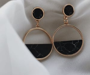earrings, fashion, and goals image