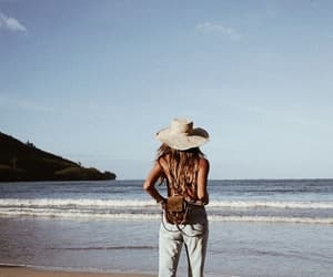 beach, fashion, and travel image