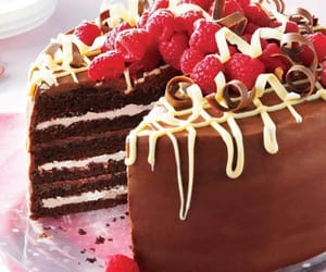 sweets, cake, and raspberries image