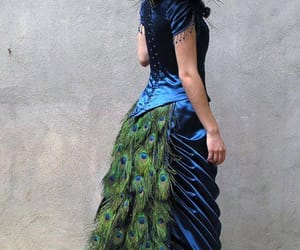 dresses, peacock, and victorian image