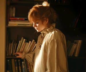 antique, books, and girl image