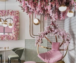 cafe, decoration, and flowers image