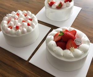cakes, strawberries, and yum image
