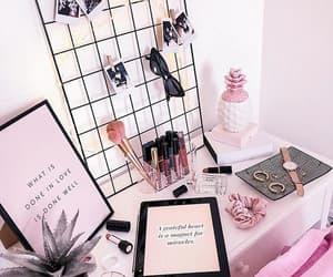 board, desk, and idea image