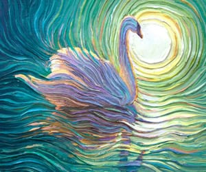 painting and Swan image